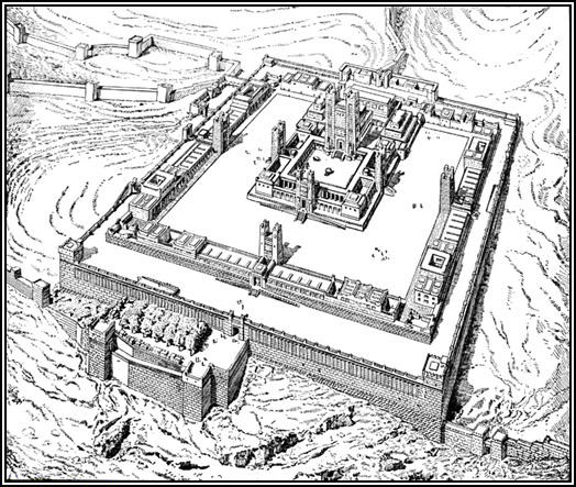The VisionaryTemple plan drawn by the 19th century French architect and Bible scholar Charles Chipiez