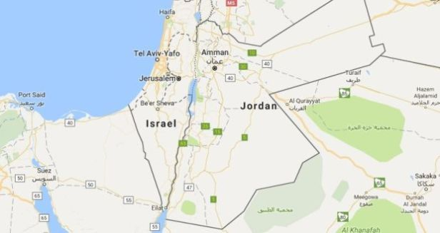 Israel on Google Maps