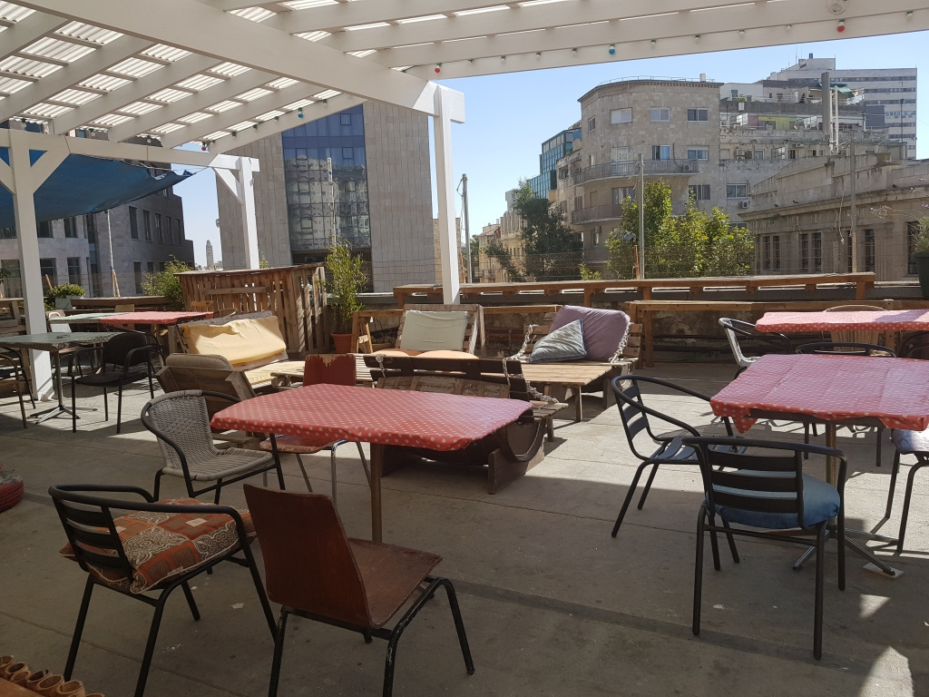 Roof terrace Jerusalem Hostel