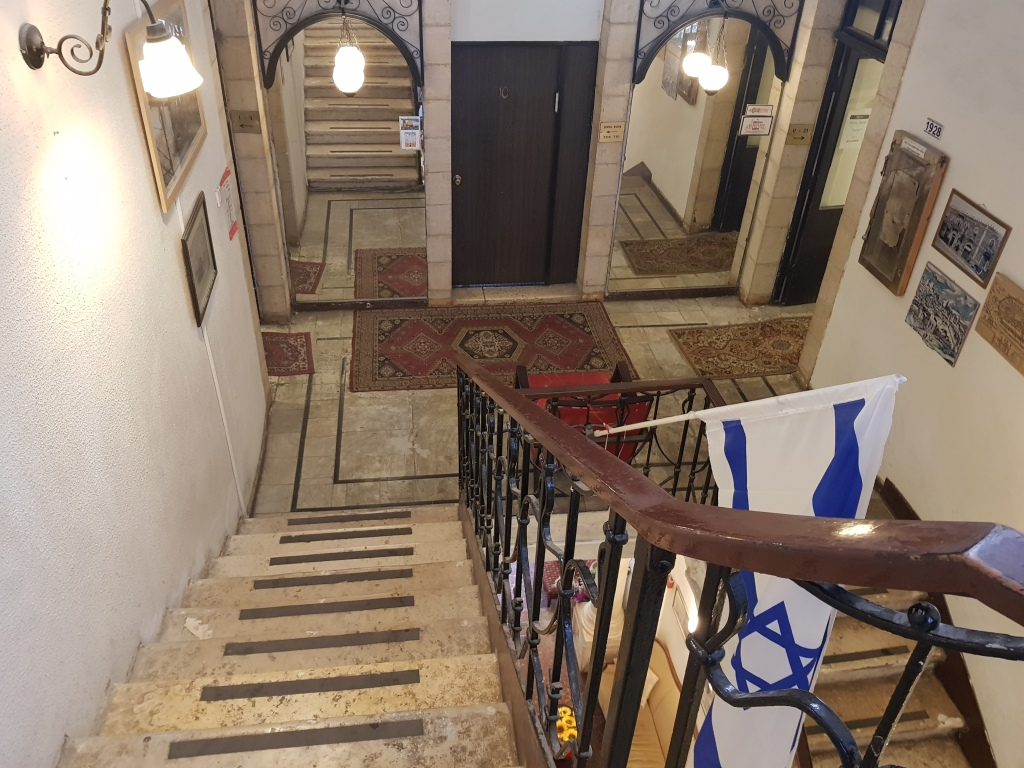Staircase at Jerusalem Hostel