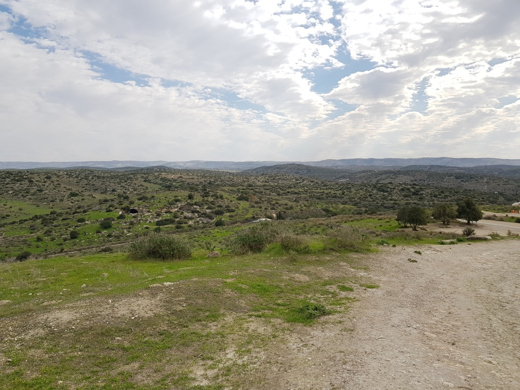 The beautiful lowlands that surround Beit Guvrin National Park