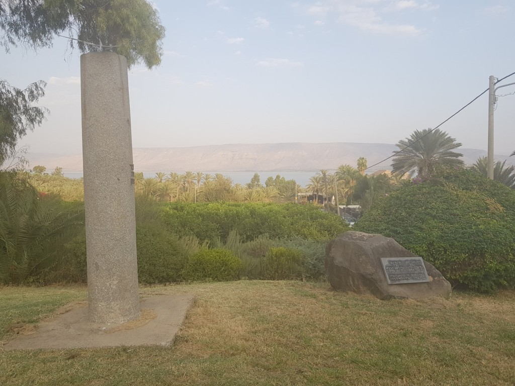 The monuments to the two pilots in the moshava Kinneret
