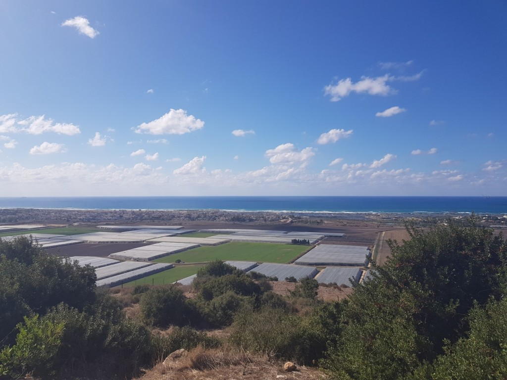 The view of the Mediterranean Sea from Hurvat Akav