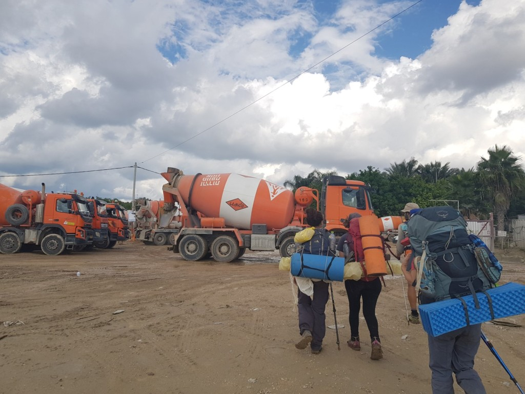 The Readymix trucks on the Israel National Trail