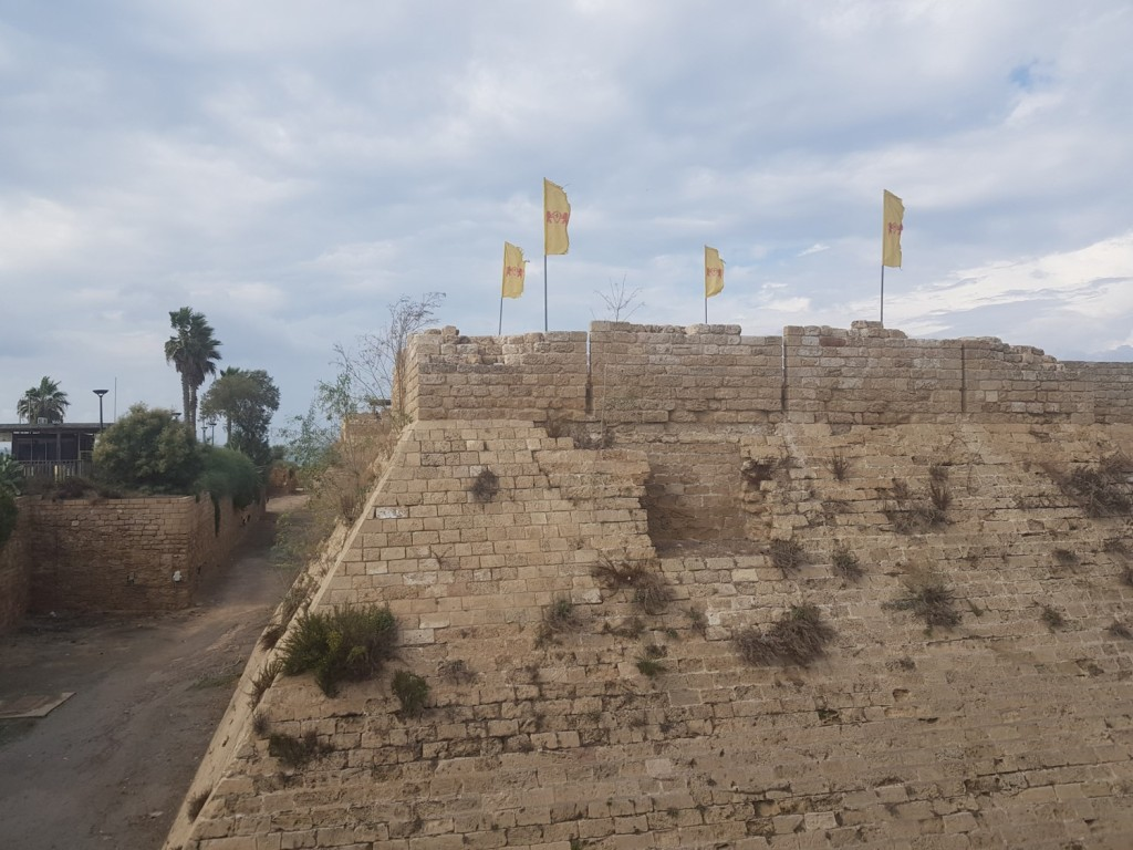 The defensive walls of ancient Caesarea